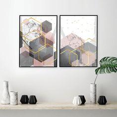 54 Eglinton Set of 2 printable blush pink grey gold geometric art prints Grey And Gold Bedroom, Blush Bedroom, Gray Bedroom Walls, Pink Bedroom Decor, Pink Bedrooms, Bedroom Ideas, Pictures For Bedroom Walls, Artwork For Bedroom, Blush Pink Living Room