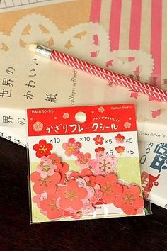 Japanese Cute Seal Flakes - Cherry Blossom (Washi Paper)