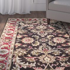 Found it at Wayfair - Cranmore Chocolate/Red Area Rug