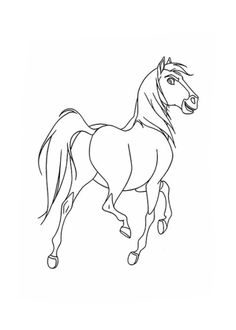 ausmalbilder spirit lucky (disney) | horse coloring pages