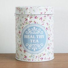 Retro-White-Blue-Flower-Home-Kitchen-Coffee-Tea-Can-Container-Jar-Tin-Metal