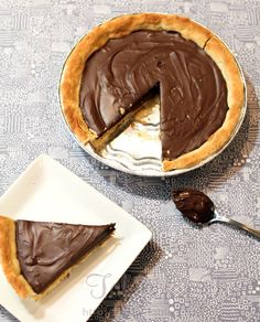 (I would make homemade Nutella for this) Nutella and Salted Caramel Pie    For the crust:    2 cups all purpose flour    1 tsp. salt    3/4 cup (1 1/2 sticks), cold, unsalted butter, cut into 1/2 inch cubes    3 tbsp. ice cold water    2 tbsp. chilled heavy cream    For the filling:    14 oz. package of caramel candies, unwrapped    1/3 cup heavy cream    1/2 tsp. salt    1 1/2 cups Nutella