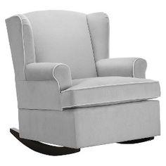 Colton Gray Fabric Modern Nursery Swivel Glider Recliner