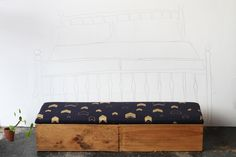 Upcycled Wine box Ottoman end of bed storage by MadeanewShop, £240.00
