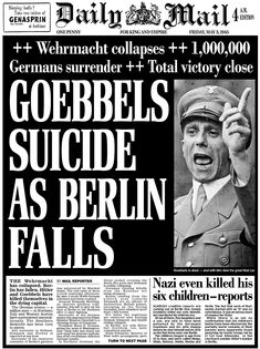 vintage everyday: 28 Newspaper Headlines From the Past That Document History's Most Important Moments Newspaper Front Pages, Vintage Newspaper, Front Page News, Newspaper Headlines, Historical Pictures, History Facts, World History, Military History, World War Two