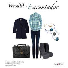 Inicia la semana con un look cómodo, versátil y que en compañía de las #joyas de Arana te hará lucir encantadora.   #Moda #Tendencias #Outfit