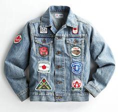 HBC Hudson Bay Co. London 2012 Summer Olympics denim jacket