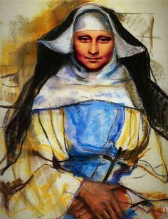 A nun of Cassis, 1928 Zinaida Serebriakova - - we have a nuns' conference going on at El Carmelo right now Paint Themes, Mona Lisa Parody, Art Database, Oil Painting Reproductions, Russian Art, Western Art, Les Oeuvres, Framed Art, Artwork