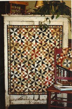 Primitive Folk Art Quilt Pattern:  WINDY SISTER