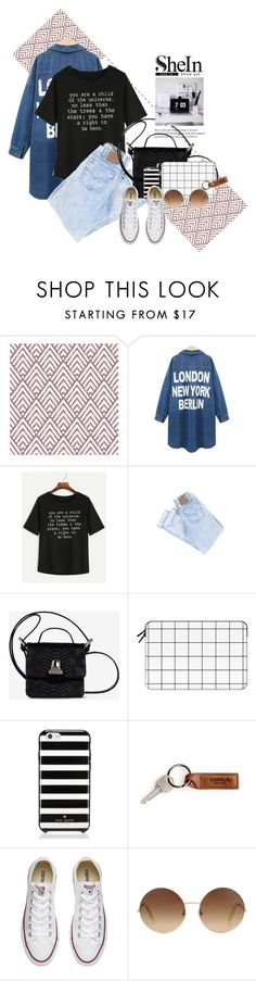 """""""Untitled #577"""" by syavina ❤ liked on Polyvore featuring WithChic, MM6 Maison Margiela, Casetify, Kate Spade, Converse and Victoria Beckham"""