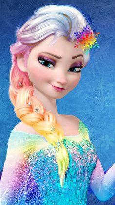 Punk Disney: Elsa with Snowflakes in her hair. Disney Princess Fashion, Disney Princess Pictures, Disney Princess Drawings, Disney Princess Art, Princess Cartoon, Disney Fan Art, Disney Drawings, Princesa Disney Frozen, Disney Frozen Elsa