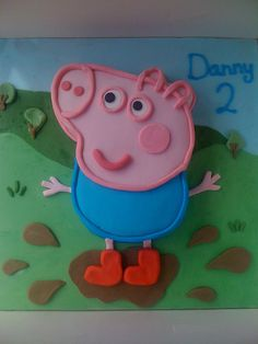 George pig cake - my son wanted this one!! #georgepig