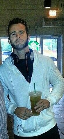 Cuz there's something about CM Punk at Starbucks that's just freaking awesome, LoL!