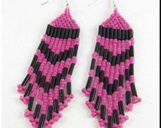 Native American Style Beadwork Seed Bead Earrings por carosell