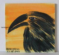 RABE von Herbivore11 kleine Kunst Inchie Minibild Raben Rabe Crow Legekarte Bild