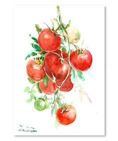 Another great find on #zulily! Vine Tomatoes Wall Art #zulilyfinds