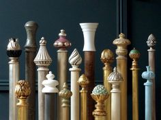Todd Knights: Curtain poles finished with a flourish, from florals to Venetians, www.toddknights.com