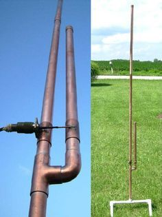 Build a portable or permanent dual band J pole type antenna. Plans, pictures and parts list. Portable Ham Radio, Le Morse, Dipole Antenna, Ham Radio Antenna, Survival Supplies, Disaster Preparedness, Electrical Engineering, Home Brewing, Copper