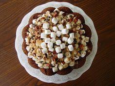 Sweet Potato Cake topped with Toasted Marshmallows