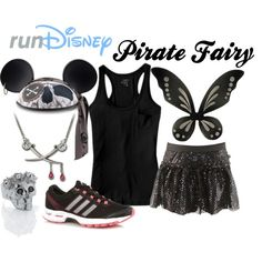"""""""Disney Zarina the Pirate Fairy Running Outfit"""" by mamaspartydress on Polyvore"""