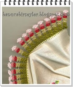 This Pin was discovered by Kad Embroidery Scarf, Embroidery Patterns, Thread Crochet, Crochet Stitches, Baby Knitting Patterns, Crochet Patterns, Crochet Clothes, Crochet Hats, Crochet Borders