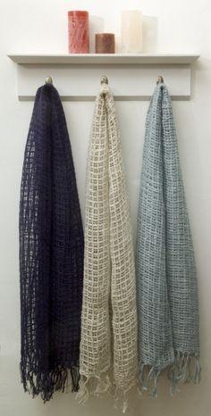 Irish Linen & Cotton Scarves open weave