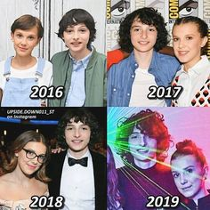 Finn & Millie through the years ❤️😭 - c Stranger Things Pins, Stranger Things Season, Stranger Things Netflix, Starnger Things, Disney Shows, You Lied, Millie Bobby Brown, Best Shows Ever, Cute Couples