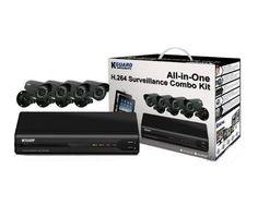 KGuard Surveillance Combo OT801-4CW134M-500G by KGUARD. $219.98. KGUARD 8CH H.264 DVR with 4 CMOS Cameras