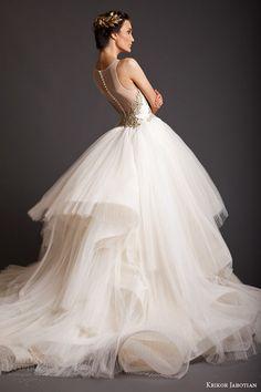 krikor jabotian spring 2014 akhtamar couture wedding dress sleeveless back view