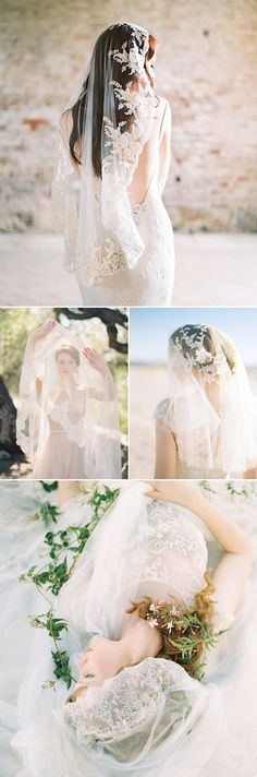 25 Stunning Lace Veils for Stylish Brides - Sibo Designs