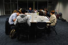 """The cast get together for the first read through of """"A Land Beyond the River"""" and """"Junction"""" by Justin Fleming!"""