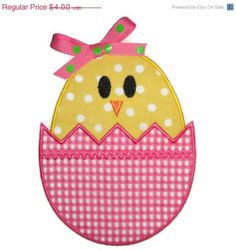 ON SALE Easter Egg Chick Machine by SimplySweetEmbroider on Etsy, $3.00