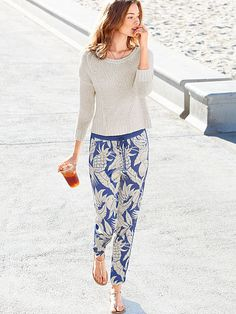 Drawstring Track Pant and slouch sweater!   Love the outfit! for a stroll at the beach ...