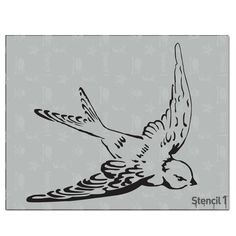 This easy-to-use Swallow Stencil from is perfect for walls, home decor, clothing and more. Each stencil is cut high quality in order to provide a long lasting design. The possibilities of what you can create with a stencil are endless. Illustration Blume, Digital Illustration, Drawing Tips, Drawing Reference, Drawing Ideas, Dr Tattoo, Laser Cut Stencils, Stencil Designs, Art Drawings Sketches