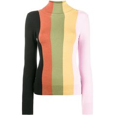 Joos Tricot striped jumper ($779) ❤ liked on Polyvore featuring tops, sweaters, multicolor striped sweater, stripe sweater, rollneck sweaters, striped top and multi color sweater