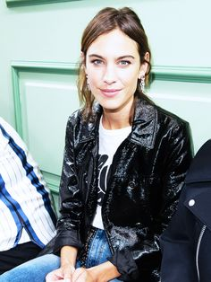 Alexa Chung's zig-zag parting suits her face shape perfectly.