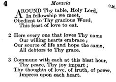 Around Thy table, Holy Lord...