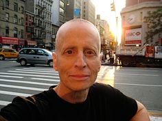"""Leslie Feinberg, a visionary leader of trans activism/LGBT movements. Author of """"Stone Butch Blues."""" One of my favorite people in the whole wide world.  (self-portrait in setting sun by leslie feinberg, via Flickr)"""