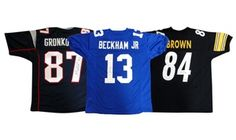 Take home a piece of the action with these officially sanctioned jerseys hand-signed by active players such as Antonio Brown and Jay Cutler