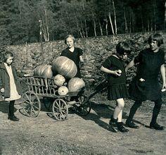 Off to make Jack o Lanterns c.1929