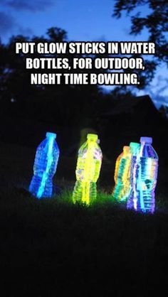 Great idea for evening entertainment after dinner/before s'mores!