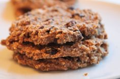 Delicious, vegan, and gluten-free: oatmeal, raisin, coconut and chia seed cookies.