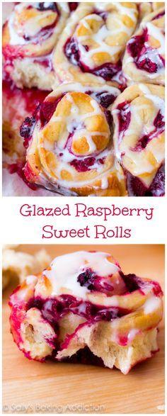 Glazed Raspberry Sweet Rolls - a delicious twist on traditional cinnamon rolls!