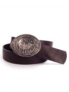 http://www.trachten24.eu/Trachtenguertel-mit-ovaler-Hirschmotiv-Schnalle-dunkelbraun - Trachtengürtel mit ovaler Hirschmotiv Schnalle (dunkelbraun) - Bavarian belt with stag motive buckle (darkbrown)