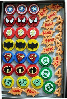 Superhero Birthday Party! Cookies