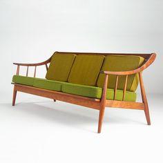 Clarence Teed; Walnut Sofa, 1960s.