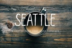 Seattle | Multi-Weight Typeface by Jen Wagner Co on @creativemarket