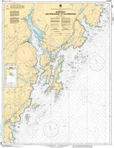 CHS Nautical Chart 4616: Burin Harbours and Approches / et les approches
