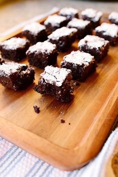 Dark Chocolate Brownies by Ree Drummond / The Pioneer Woman #chocolates #sweet #yummy #delicious #food #chocolaterecipes #choco #chocolate