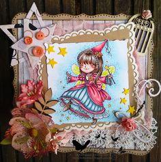 MILK N COFFEE fairy princess copic card